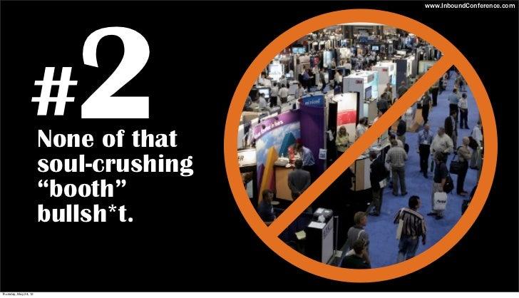 10 Reasons to Sponsor Inbound 2012 Slide 3