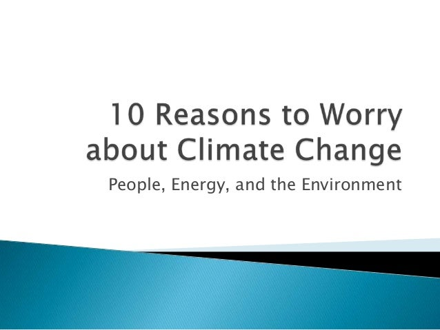 People, Energy, and the Environment