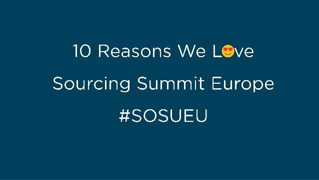 10 Reasons We Love Sourcing Summit Europe