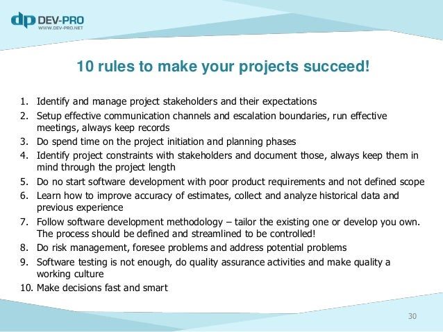 reasons why projects fail essay There are many different reasons why projects fail and if you stay in the project manager role for very long you are almost certain to come across some of them.