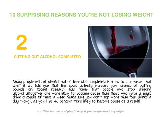 weight loss after cutting out alcohol