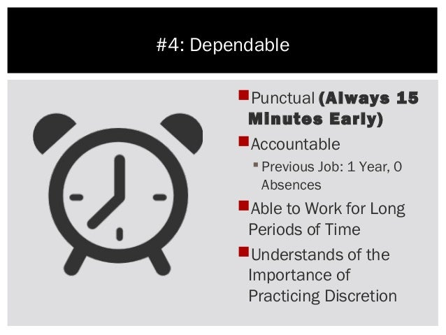 the importance of punctuality and responsibility The importance of being punctual the importance of i shared that punctuality showed a strong sense of responsibility and it took great resilience to be punctual.