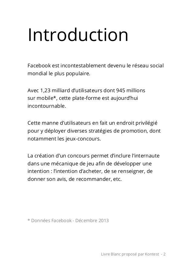 10 règles pour réussir son concours sur Facebook Slide 2