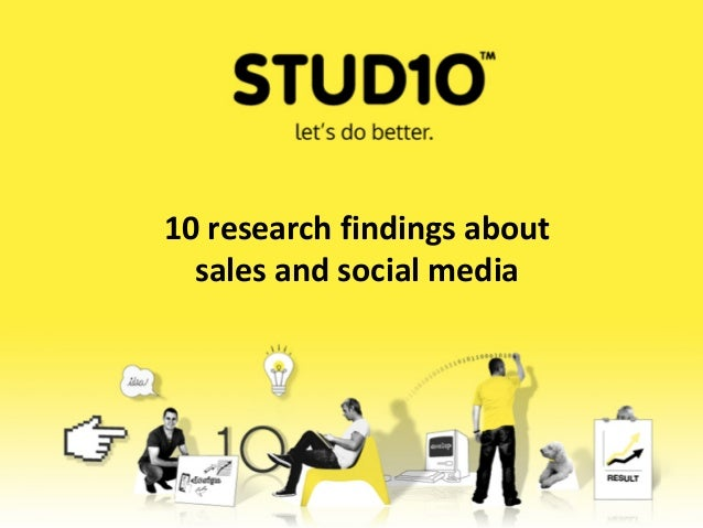 10 research findings aboutsales and social media