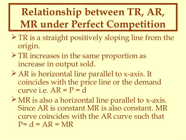 relationship between tr ar and mr