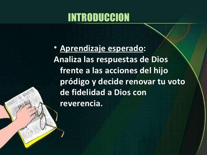 INTRODUCCION  <ul><li>Aprendizaje esperado : </li></ul><ul><li>Analiza las respuestas de Dios frente a las acciones del hi...