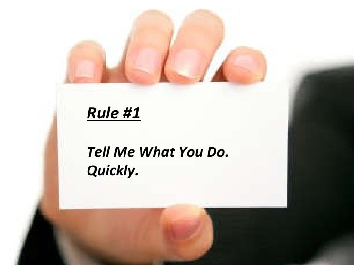 Rules for Business: 10 Rules For Killer Business Cards-2009 Edition Slide 3