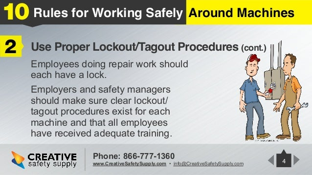 10 Rules For Working Safely Around Machines Creative Safety Supply
