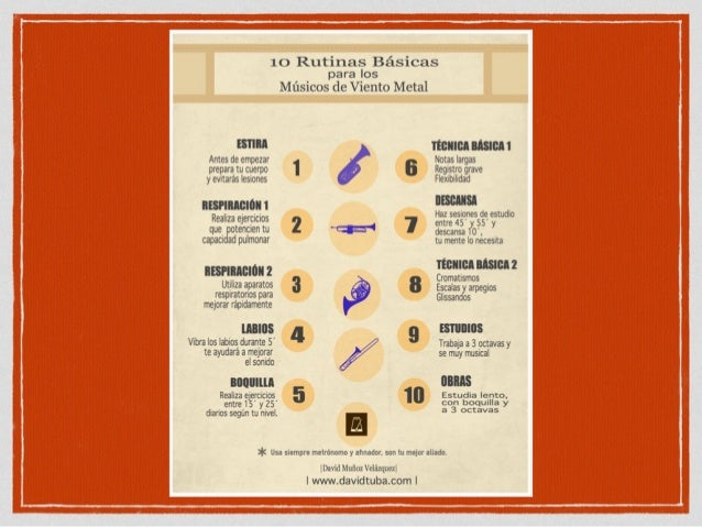 10 rutinas básicas para los músicos de viento-metal Slide 3