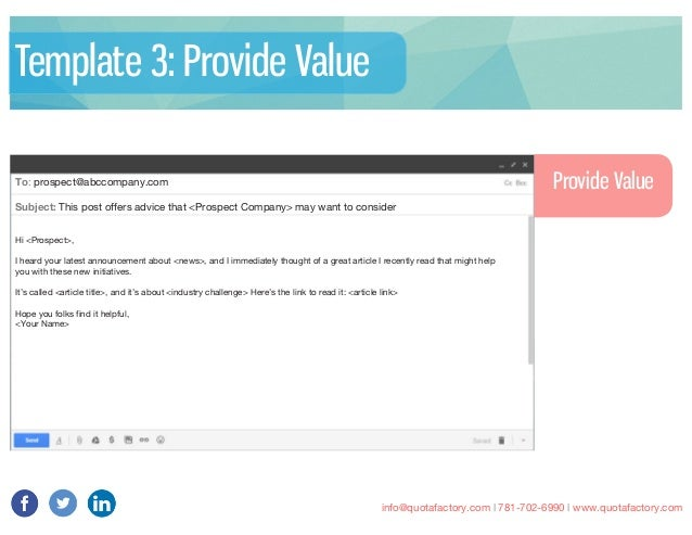 information email template