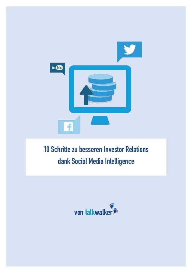 1  10 Schritte zu besseren Investor Relations  dank Social Media Intelligence  von