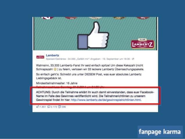 checkliste facebook gewinnspiel