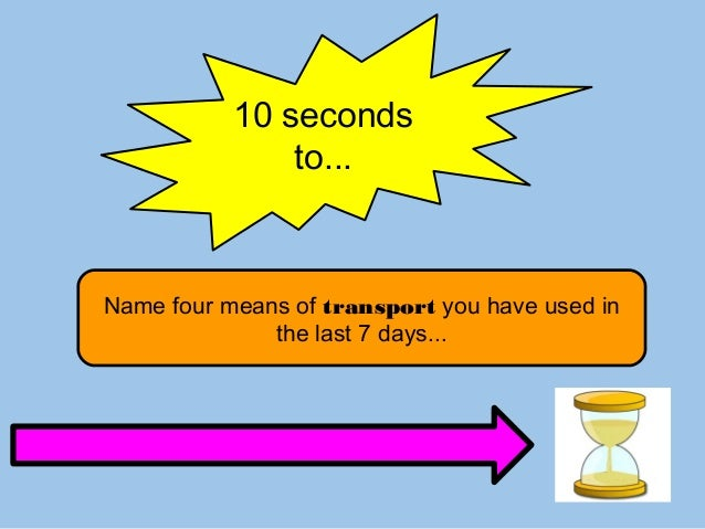 10 Seconds to Name Game