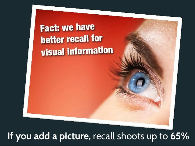 If you add a picture, recall shoots up to 65%
