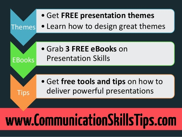 • Get FREE presentation themesThemes • Learn how to design great themes       • Grab 3 FREE eBooks onEBooks   Presentation...