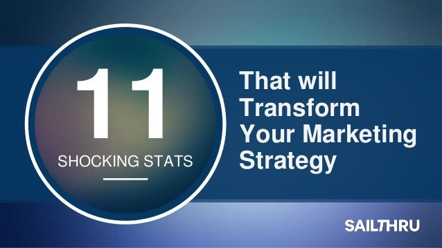 That will Transform Your Marketing Strategy 11SHOCKING STATS