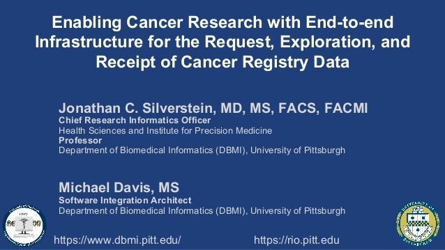 Enabling Cancer Research with End-to-end Infrastructure for the Request, Exploration, and Receipt of Cancer Registry Data ...
