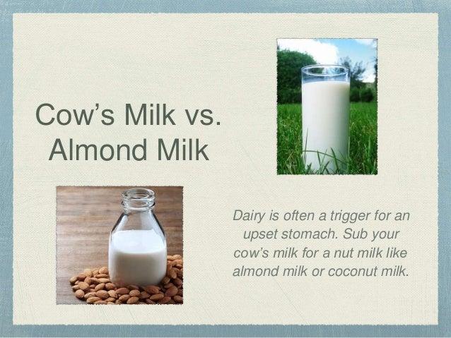 Coconut milk vs almond milk vs cow milk