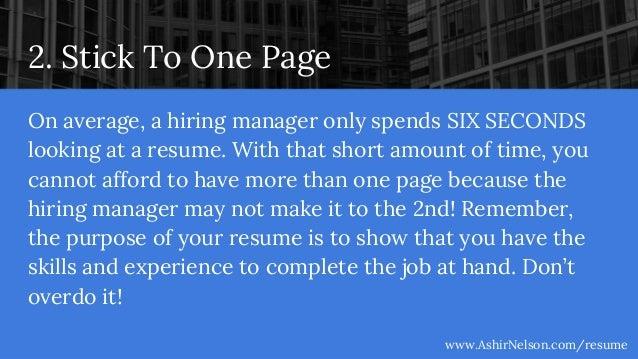AshirNelson.com/resume; 3. 2.