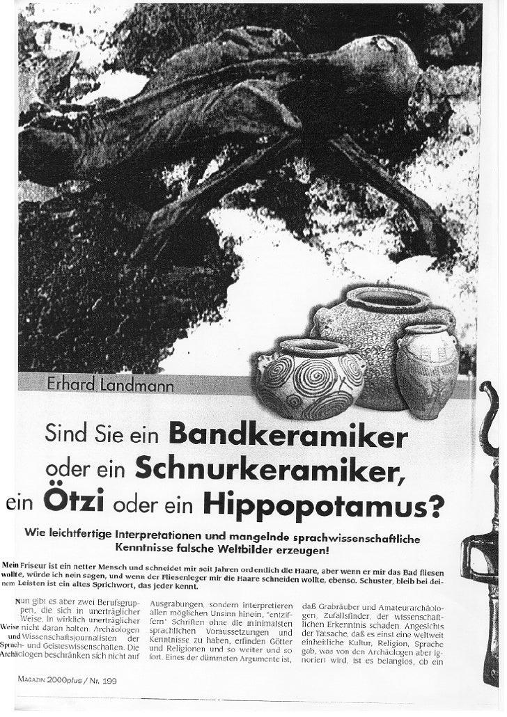 Sind Sie ein Bandkeramiker oder ein Schnurkeramiker, oder ein Ötzi oder ein Hippopotamus?