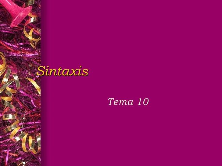Sintaxis Tema 10