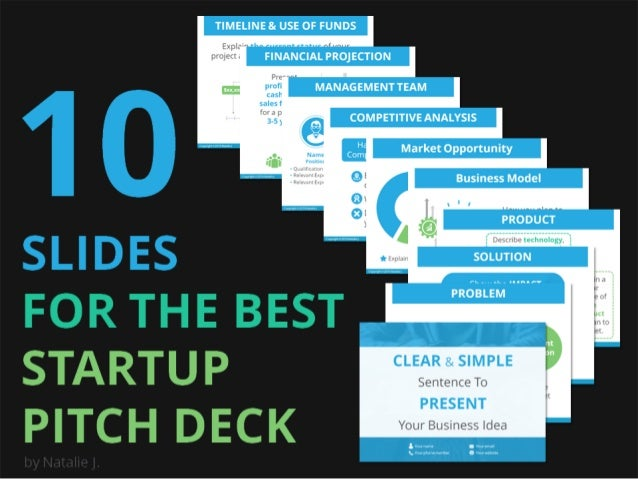 10 Slides For The Best Startup Pitch Deck