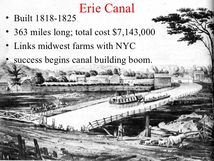 An analysis of canal building before 1840