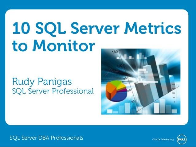10 SQL Server Metrics to Monitor Rudy Panigas  SQL Server Professional  SQL Server DBA Professionals  Global Marketing