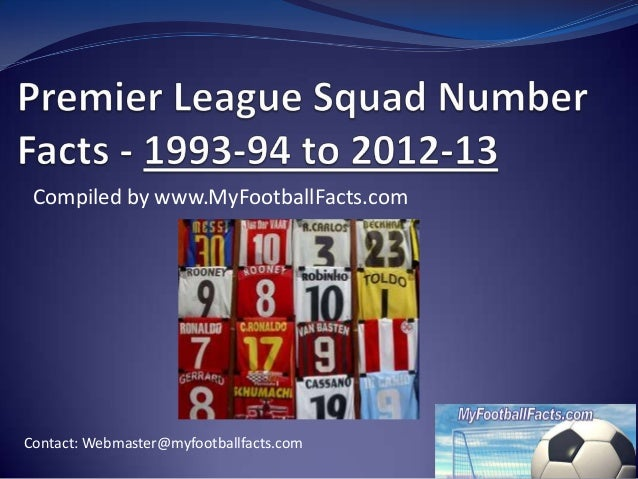 Compiled by www.MyFootballFacts.comContact: Webmaster@myfootballfacts.com