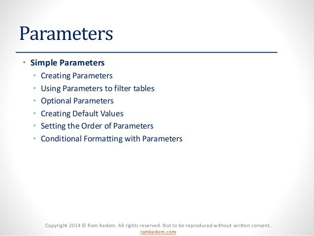 SSRS Basic Parameters