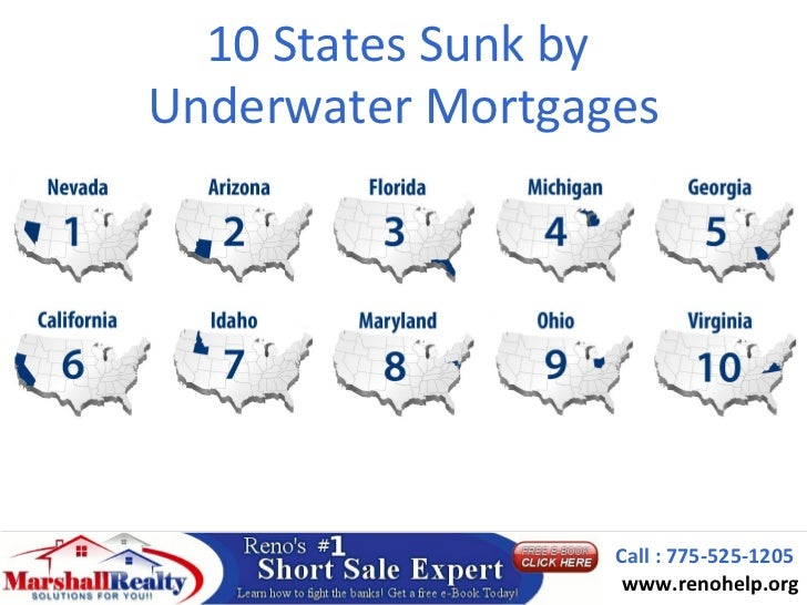 10 States Sunk byUnderwater Mortgages                  Call : 775-525-1205                   www.renohelp.org