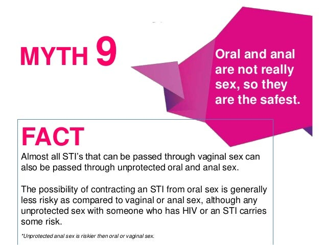 Myths about oral sex — 3