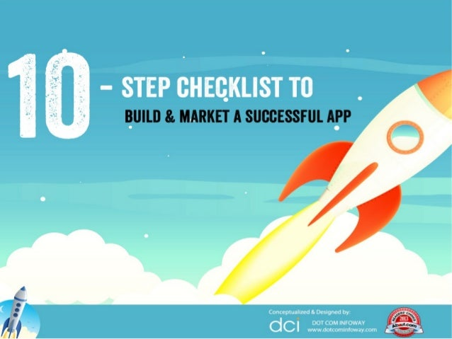 10-step checklist to build and market a successful app