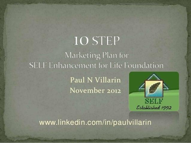 Paul N Villarin        November 2012www.linkedin.com/in/paulvillarin