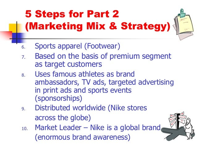 nike marketing mix Marketing mix 1968 words | 8 pages marketing mix p-bsbmx4-mkt-421 robert deer january 28, 2006 abstract a marketing mix is a combination of product, packaging, price.