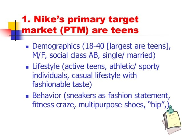 amenazar Medio feo  nike target market segmentation