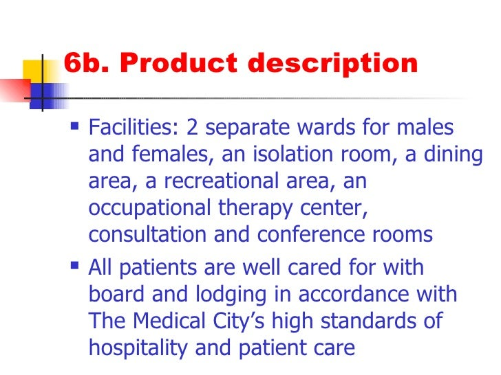 Occupational Therapy Dining Room Description