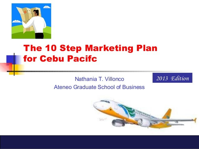 The 10 Step Marketing Planfor Cebu PacifcNathania T. VilloncoAteneo Graduate School of Business2013 Edition