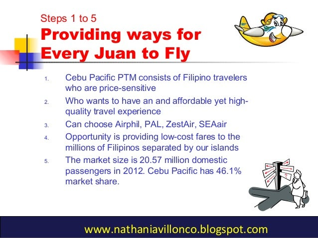 cebu pacific strategic mktg Charles b flaviano bshrm 2b ms shiela rose manlapao principles of marketing case study (cebu pacific) 1) cebu pacific's success can be attributed to a low-price strategy and loyal customers why do you think value pricing is not just about lowering prices of your products -cebu pacific was.