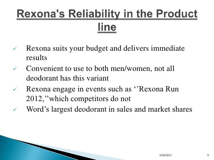 rexona swot 0 list of aluminum free deodorant brands the issue of aluminum chlorides in deodorants has been discussed among manufacturers, scientists and consumers for a couple of years, now.