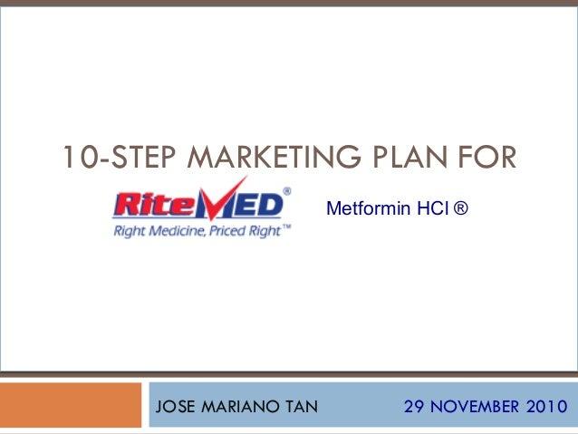 JOSE MARIANO TAN 29 NOVEMBER 2010 10-STEP MARKETING PLAN FOR Metformin HCl ®
