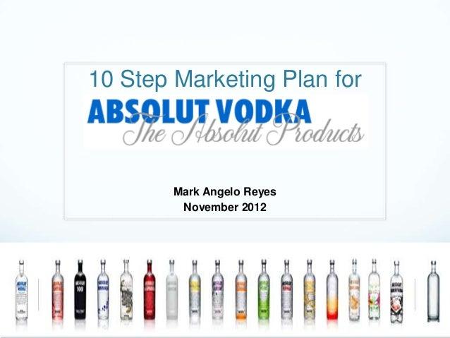 10 Step Marketing Plan for        Mark Angelo Reyes         November 2012