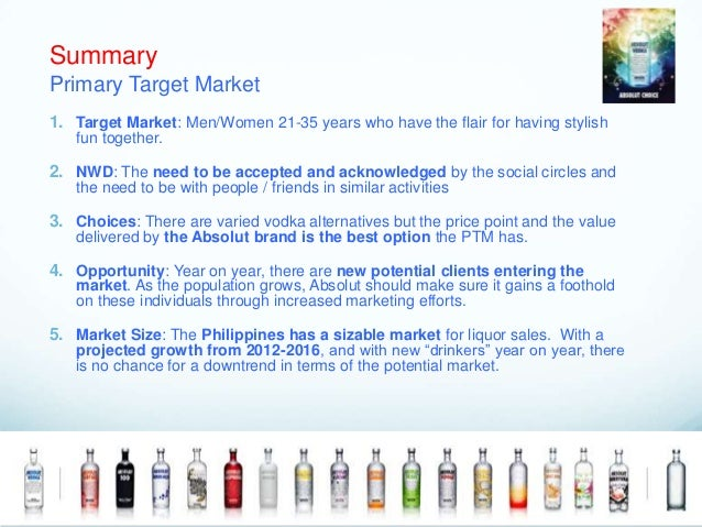 absolut vodka distribution strategies If we are to develop timely and appropriate strategies to address concerns about underage drinking—and the use of alcoholic products by society generally—it is critically important that we understand the dimensions and implications of the new marketing paradigm  with products and brands in cyberspace might be even more profound than the.