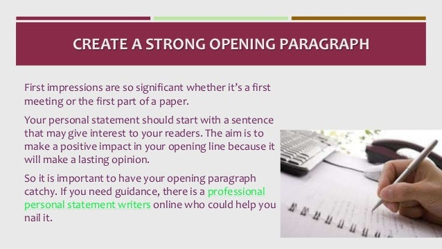 opening lines to personal statement