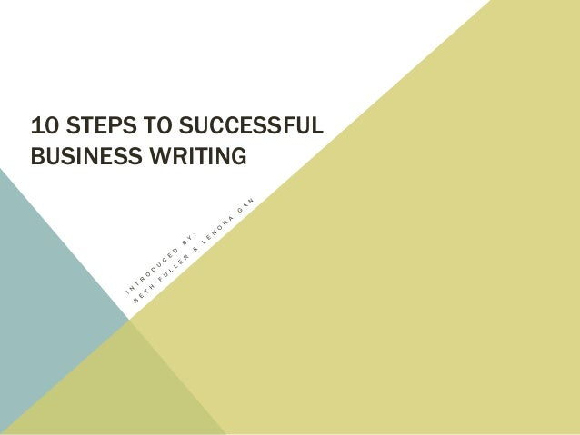 10 steps to successful business writing pdf free