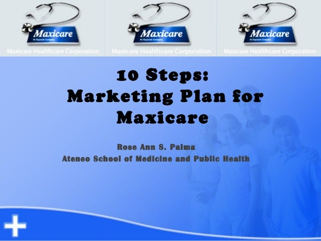 10 Steps: Marketing Plan for Maxicare Rose Ann S. Palma Ateneo School of Medicine and Public Health