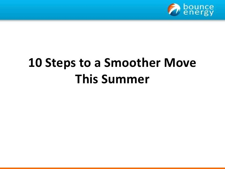 10 Steps to a Smoother Move This Summer<br />