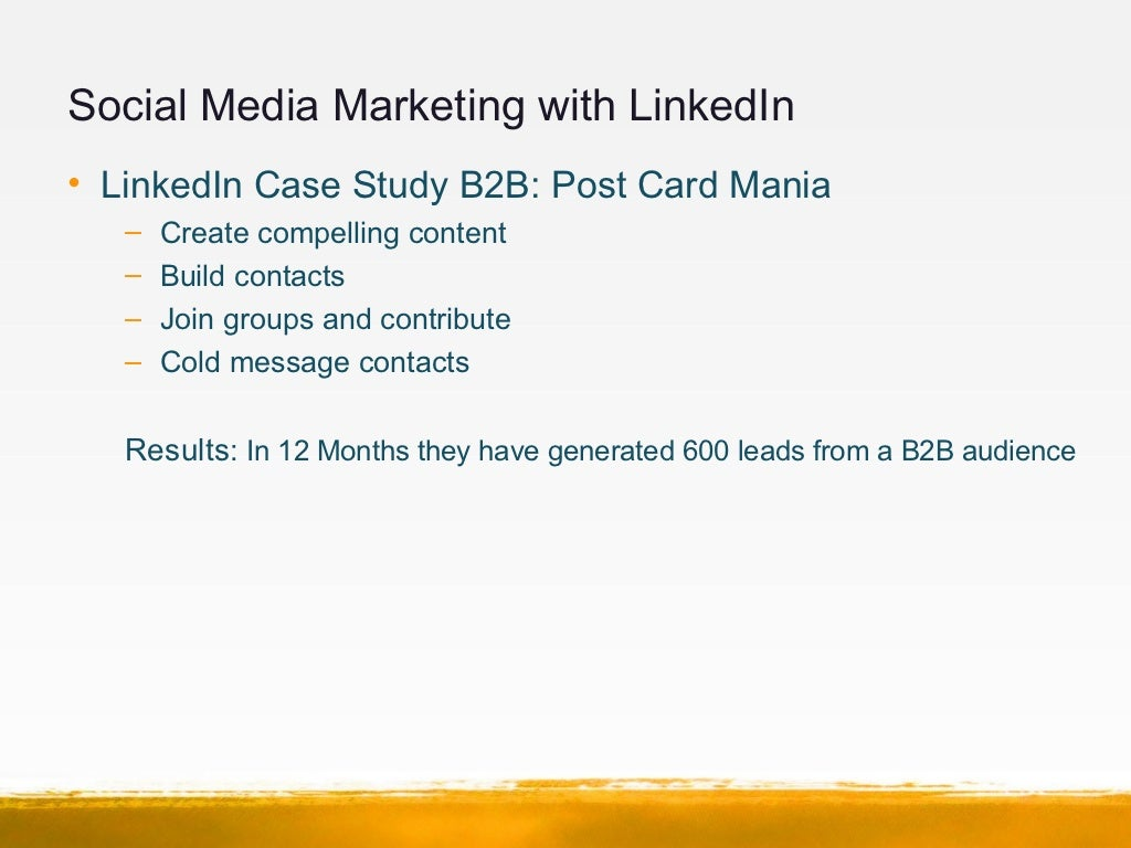 b2b social media marketing case studies Here are some social media case studies on failed social media activities the failures tend to be on the smaller scale, resulting from bad communication and reactions turning the social media conversation in an unwanted direction.