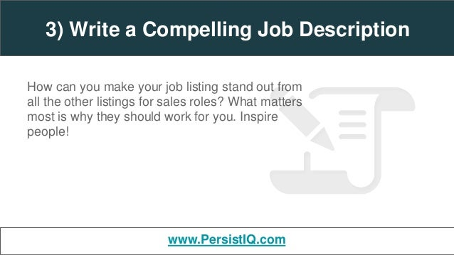 writing a compelling job description