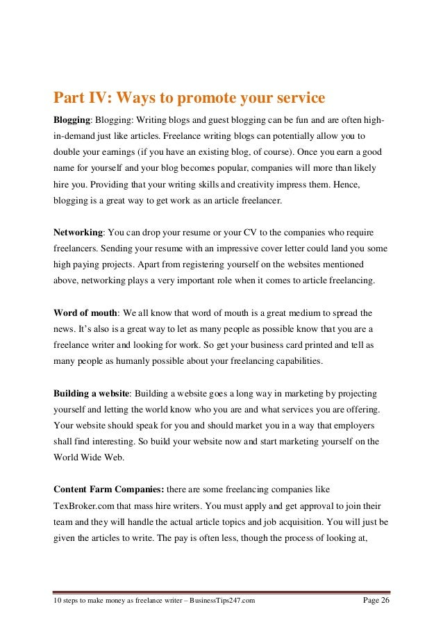 10 steps to make money as freelance writer